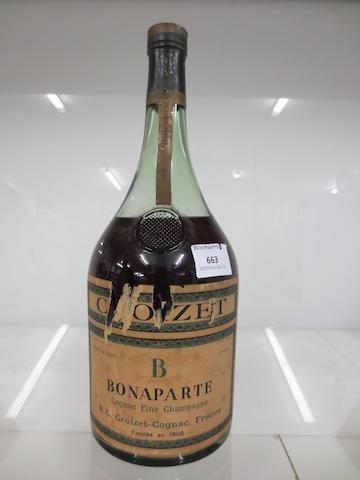 Croizet Bonaparte Fine Champagne Cognac 1906 (believed 2.25 litres bottle)