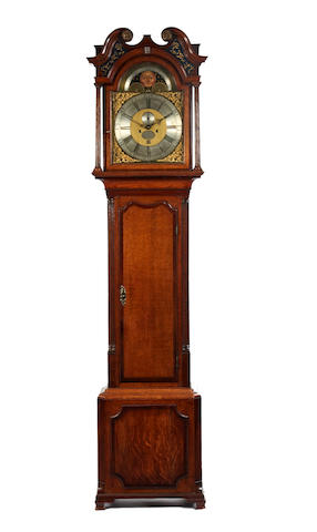 An oak cased eight day longcase clock by A Lewis Frodsham