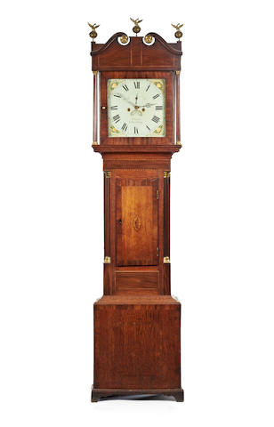 An early 19th century mahogany eight-day painted dial longcase clock W Evans, Shrewsbury. c1790-1847