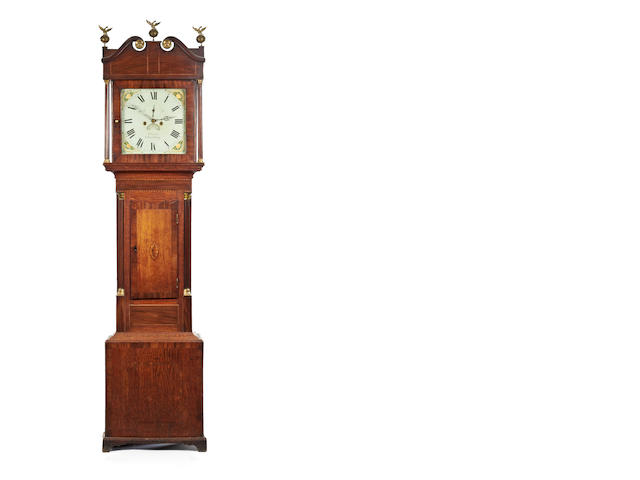 An early 19th century mahogany eight-day painted dial longcase clock By W Evans, Shrewsbury (1790-1847).