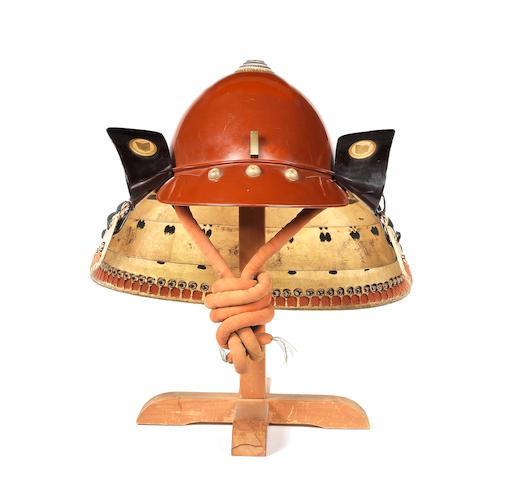 A shiinari kabuto (helmet) By Munehisa, late Edo Period, 19th century