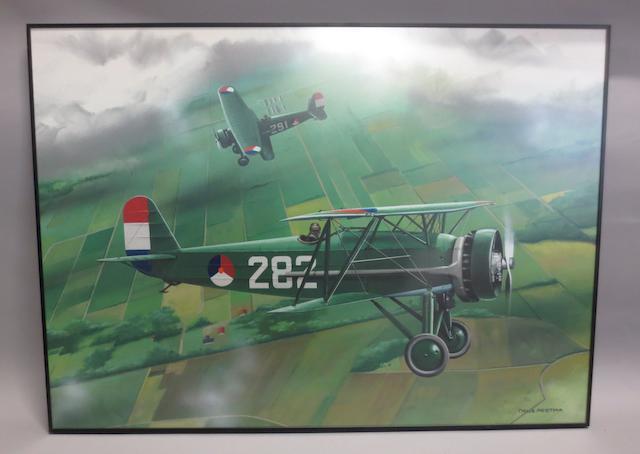 Thijs Postma, Dutch, (1934- ), 'Fokker D XVI',