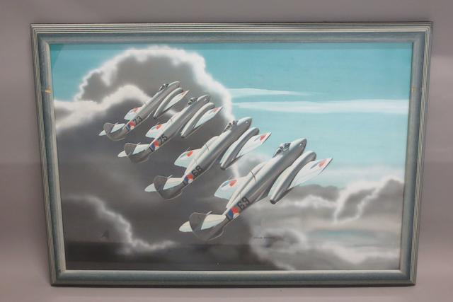 Thijs Postma, Dutch, (1934- ), 'Close Formation',