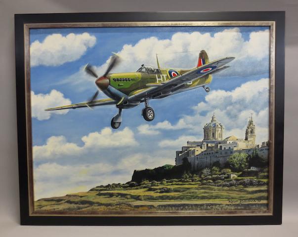 Rens Biesma, Dutch, (1944- ), 'Defence of Malta',