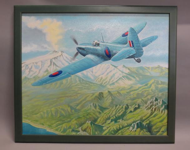 Rens Biesma, Dutch, (1944- ), 'Photographic Reconnaissance Spitfire MK IV',