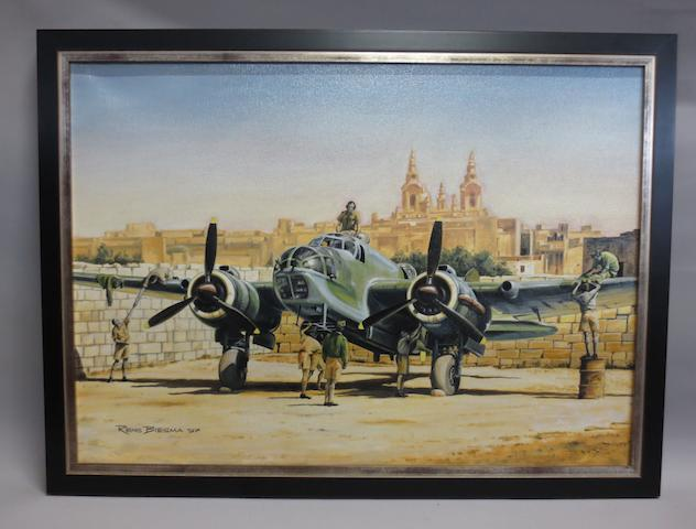 Rens Biesma, Dutch, (1944- ), '110 Squadron Bristol Blenheim Mk.IV in Malta',