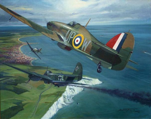 Michael Turner PFGAvA (1934- ): 'Over Beachy Head',