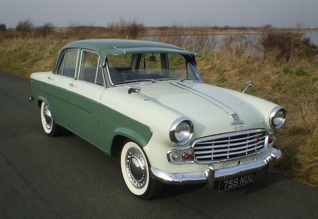1961 Standard Vanguard Luxury Six Automatic Saloon, Chassis no. W3766DLBG Engine no. W3249HE