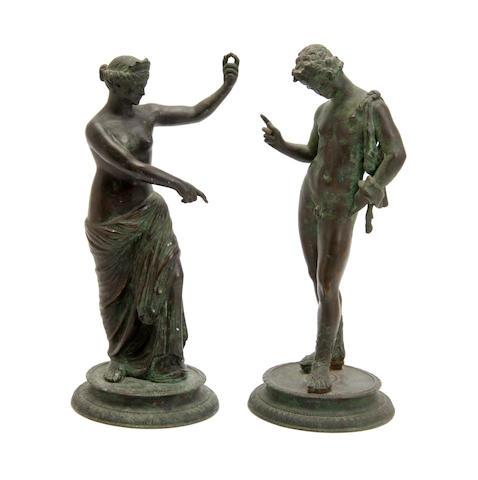 A pair Roman revival Bronzes