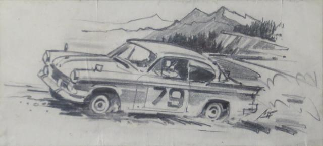 Michael Turner, 'Sunbeam Rapier Rally', an original artwork illustration,