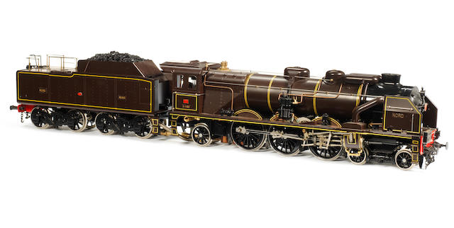 Aster for Fulgurex Gauge I live steam 4-6-2 Chapelon's Nord 231 locomotive 3.1192 and bogie tender