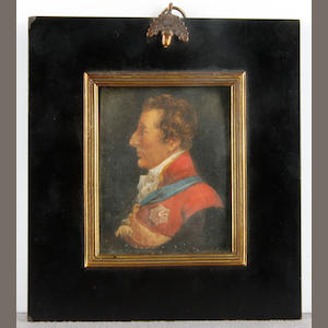 English School, 19th Century Portrait of an officer