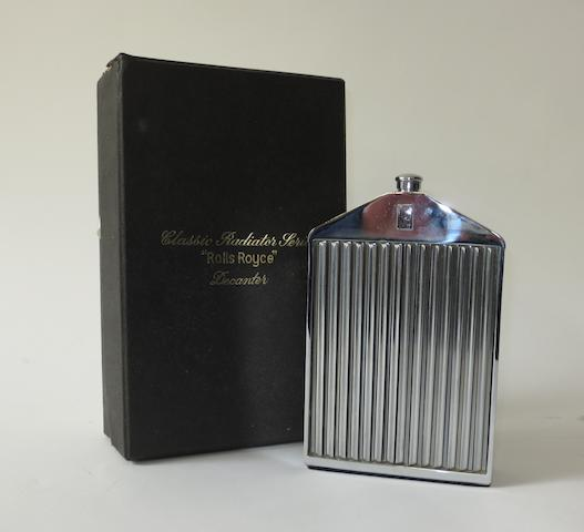 A Rolls-Royce radiator decanter, by Ruddspeed,
