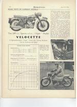 The ex-factory press fleet, earliest known survivor,1955 Velocette 349cc Viper Frame no. RS7879 Engine no. VR1002