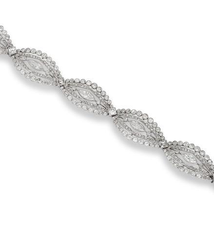 A belle époque diamond bracelet,