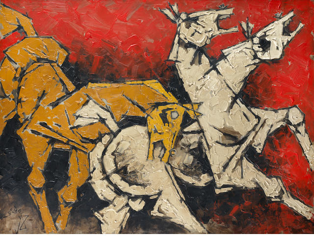 Maqbool Fida Husain (India, 1915-2011) Untitled,