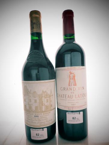 Chateau Haut-Brion 1989 (1)<BR />Chateau Latour 1997 (1)