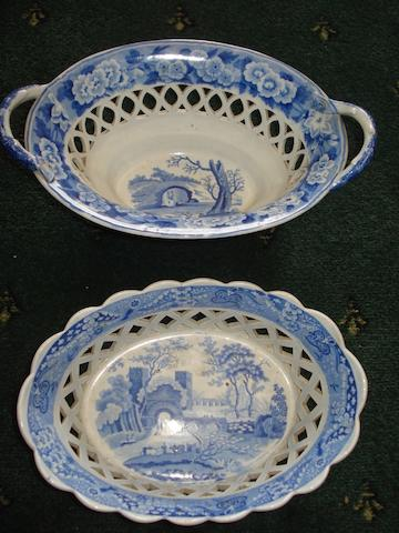 A large collection of 19th and 20th Century transfer printed blue and white china,