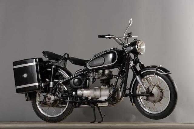 1962 BMW 247cc R27 Frame no. 376334