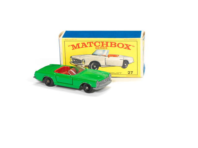 Matchbox 1-75s rare apple-green 27d Mercedes Benz 230SL