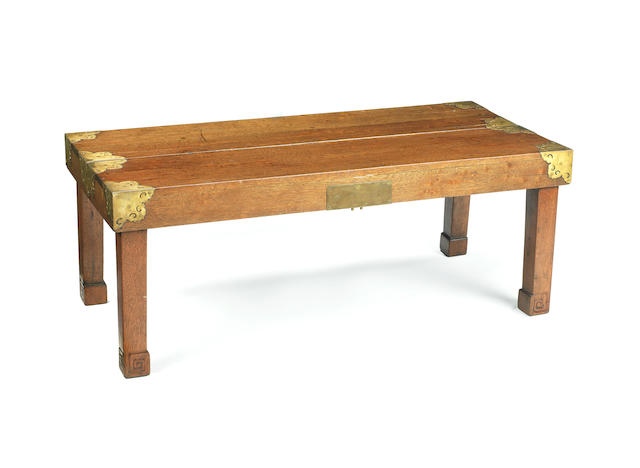 A rare portable stationary folding desk Mid Qing Dynasty