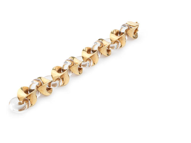 A rock crystal and fancy-link bracelet, by Van Cleef & Arpels,