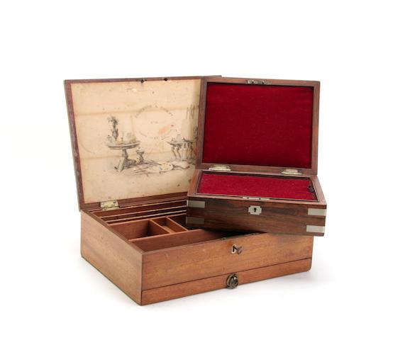 A Victorian mahogany artists box