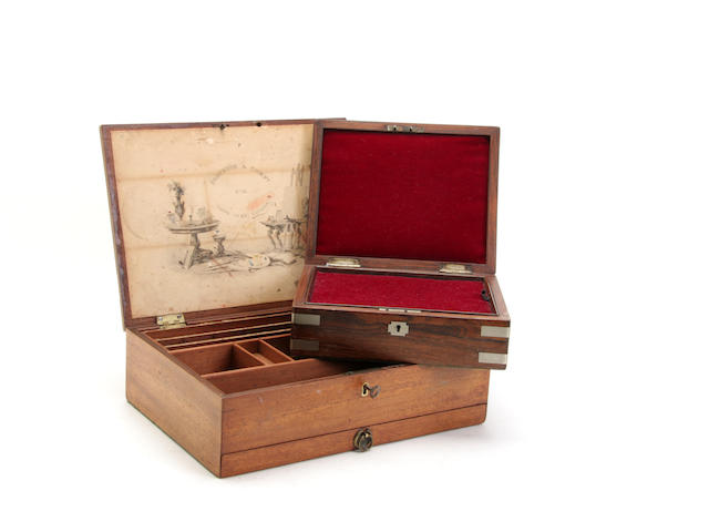 A Victorian mahogany artists box