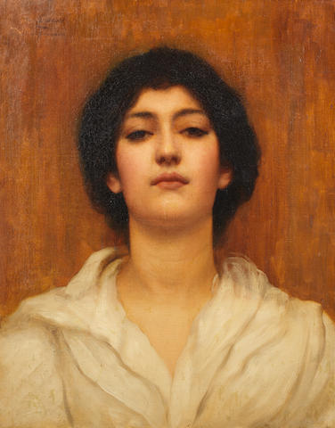 John William Godward, RBA (British, 1861-1922) A beauty unframed