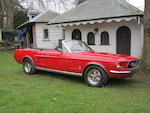 c.1967 Ford Mustang Convertible, Chassis no. 27 023 7103A212222