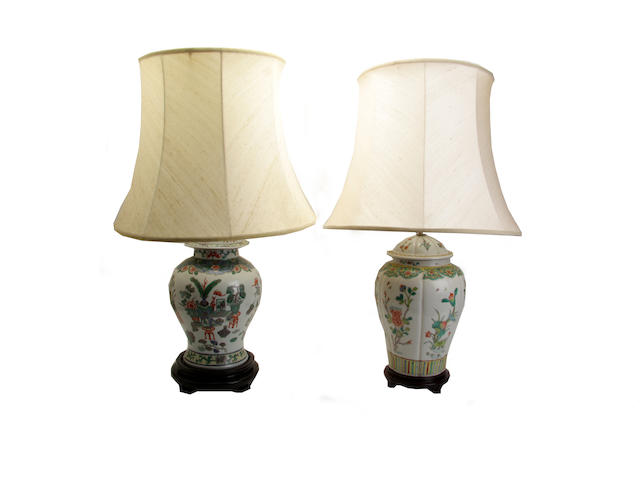 Two modern electric lamps