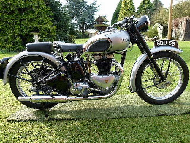 Hughie Hancox Rebuild,1947 Triumph 497cc Tiger 100  Frame no. 47TOO 84852 Engine no. T00 84852