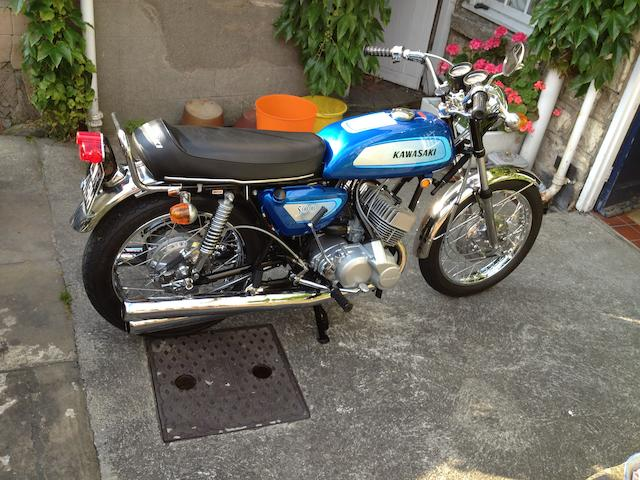 800 miles since full restoration,c.1970 Kawasaki 498cc H1A Frame no. KAF 25836 Engine no. KAE 24159