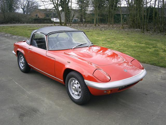 1969 Lotus Elan S4 Drophead Coupé, Chassis no. H5/8698 Engine no. L179208