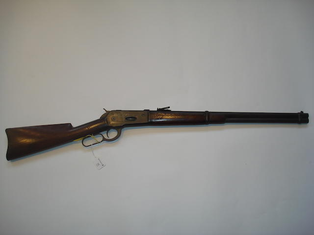 A .40-65 (W.C.F) 'Model 1886' underlever saddle-ring carbine by Winchester, no. 51867