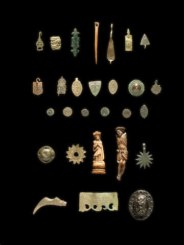 A group of Medieval and later artefacts a lot
