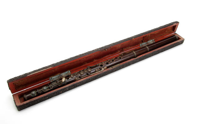 A 19th century rosewood potter flute