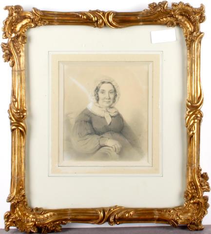 English School, 19th century Portrait of a lady
