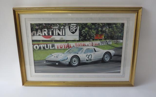 Ivan Berryman, 'Porsche 904/6 at Le Mans 1965',