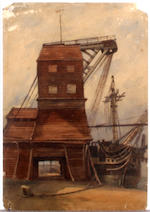 English School, circa 1870 A large collection of unframed watercolours by Matthew Kendrick and others, mainly marine and coastal views
