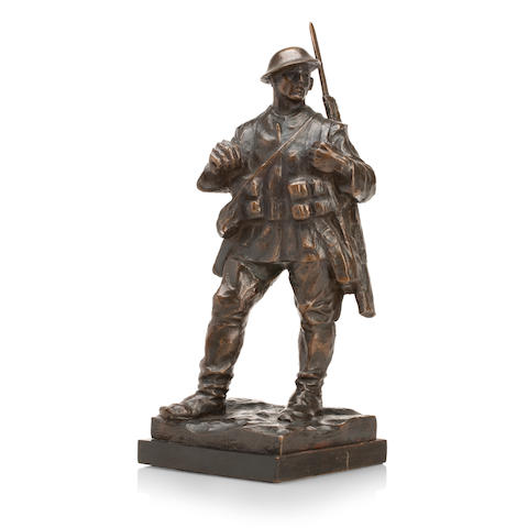 William McMillan (SCOTTISH, 1887-1977)A bronze figure of a First World War British soldier