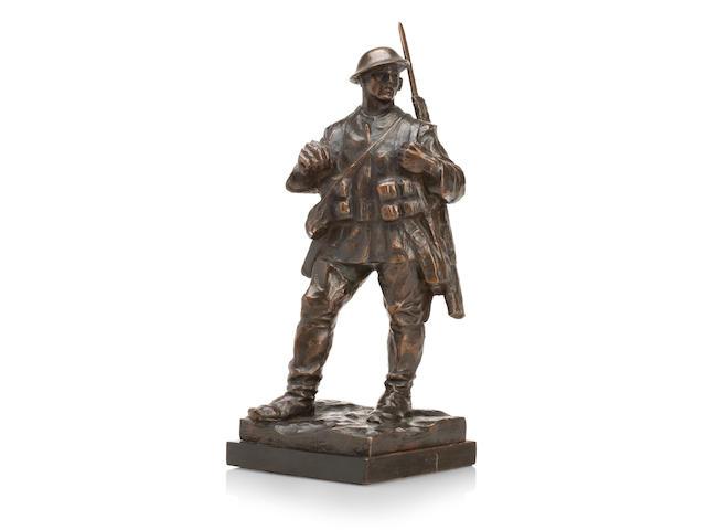 William McMillan (SCOTTISH, 1887-1977)A bronze figure of a First World War British soldier