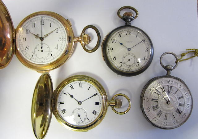 A lot of four repeating pocket watches