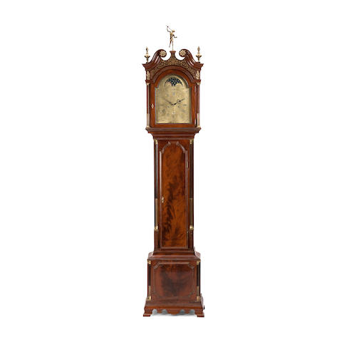 A late 18th century mahogany longcase clock Inscribed Robert Daniell, Plymouth Dock