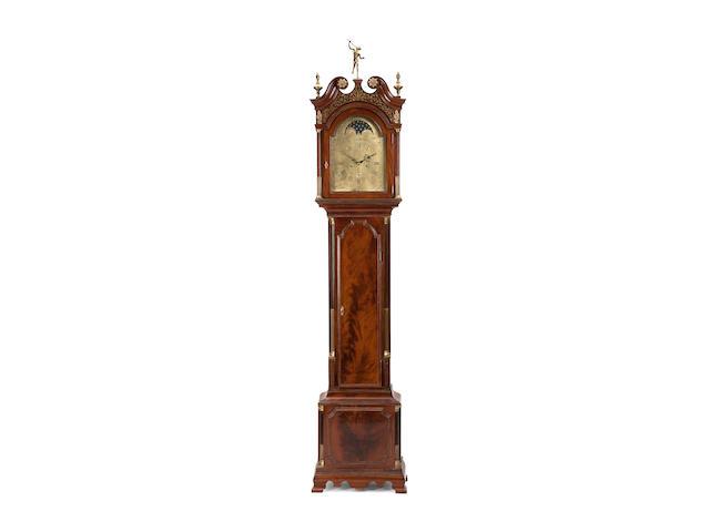 A late 18th century mahogany longcase clock Inscribed Robert Daniell, Plymouth Dock