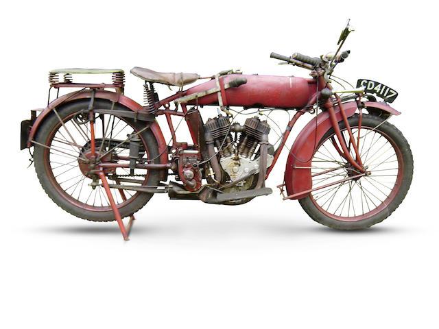 c.1921 Indian 7hp Powerplus Frame no. 87K579 Engine no. 72S428