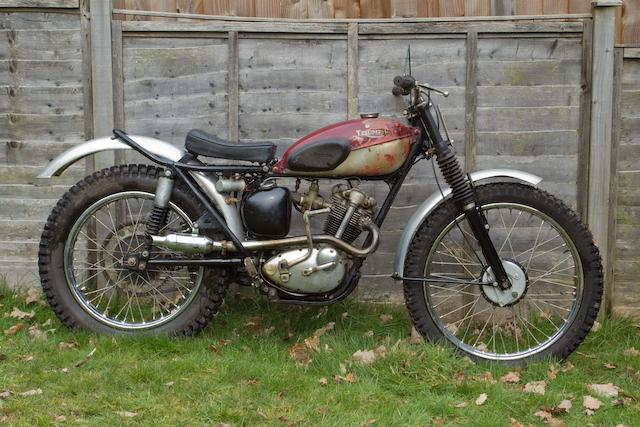 c.1960 Triumph 199cc Tiger Cub Trials Frame no. T56274 Engine no. T20 98973