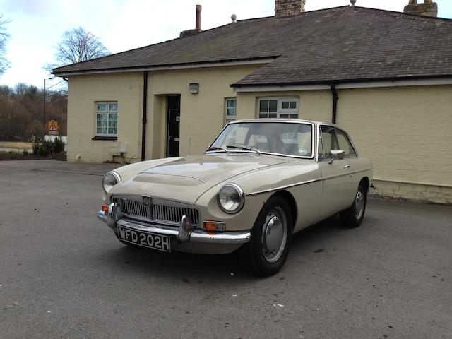 1969 MGC GT Coupé, Chassis no. GCD1/4915G Engine no. 29GRCH3283