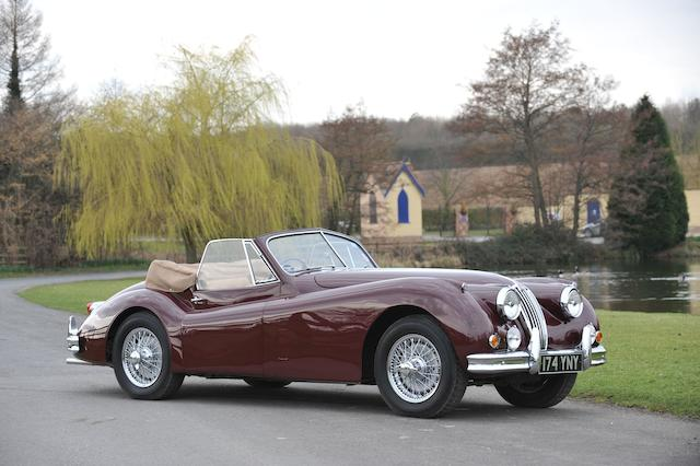 1955 Jaguar XK140 Drophead Coupé, Chassis no. 807164 Engine no. G3940-8