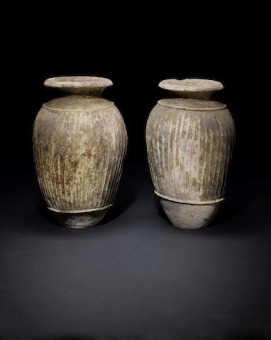 Two Etruscan terracotta Impasto ware dolia 2